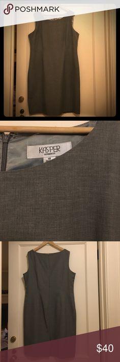 Never worn!  Kasper medium grey sheath dress Beautiful medium grey sheath dress. Perfect with a suit jacket or cardigan or on its own! Kasper Dresses