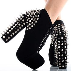 BLACK WEDGE HEELS WITH SPIKES - Google Search