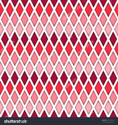 Background of colored diamonds. Pink and white tile vector pattern.