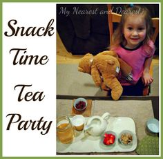 Turn your usual morning or afternoon kids snack into a tea party. Simple and frugal fun!