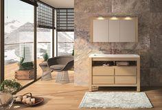 Collin Arredo - meubles de salle de bain en bois - Hemisphère Nord - L120 - Chêne