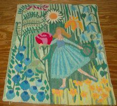 Vintage Swedish Flemish tapestry. Summertime. Girl Dancing. (texa0/eBay)