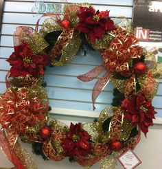 snowy poinsettia wreath sherrie nj michaels my designs at michaels in victor ny pinterest poinsettia and wreaths - Michaels Christmas Wreaths
