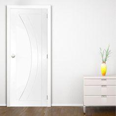 Bespoke Salerno White Primed Oak Flush Door.  #internalwhitedoor #bespokedoor #whitebespokedoor