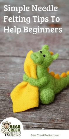 Simple Needle Felting Tips To Help Beginners. When I first stumbled into needle … Simple Needle Felting Tips To Help Beginners. When I first stumbled. Wool Needle Felting, Needle Felting Tutorials, Needle Felted Animals, Wet Felting, Felt Animals, Christmas Needle Felting, Felted Wool, Beginner Felting, Felted Scarf