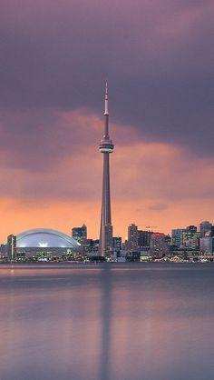 Sunset in Toronto, Ontario_ Canada Toronto Skyline, Toronto City, Downtown Toronto, Wallpaper Canada, City Wallpaper, Iphone Wallpaper Toronto, Toronto Photography, City Photography, City Aesthetic