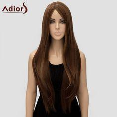 Adiors Women's Natural Straight Long Side Bang High Temperature Fiber Wig #jewelry, #women, #men, #hats, #watches, #belts, #fashion