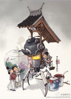 钟离华虫的照片 - 微相册 Character Illustration, Art And Illustration, Character Concept, Character Art, Japon Tokyo, Prop Design, Environment Concept Art, Grafik Design, Character Design Inspiration