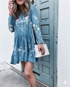 50 Trendy Spring Outfits That Will Enchant You Boho Fashion, Spring Fashion, Autumn Fashion, Womens Fashion, Fashion Clothes, Style Fashion, Fashion Dresses, Feminine Mode, Cute Dresses