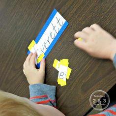 Preschool Literacy: Learning Letters in Our Names - Teaching 2 and 3 year olds Play Based Learning, Toddler Learning, Preschool Curriculum, Preschool Crafts, Preschool Ideas, Outdoor Activities For Toddlers, Name Puzzle, Cool Gifts For Kids, Learning Letters