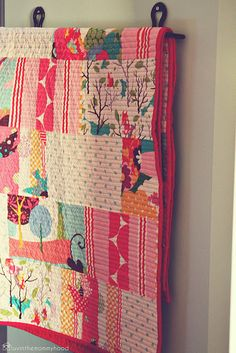 Large focal fabrics used in long strippy blocks. I love this idea! I wouldn't feel so bad about cutting up some of those really cute focus fabric prints I have!