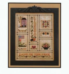 patriotic counted cross stitch kits