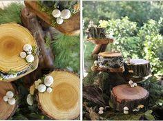 wedding cake looks like wood