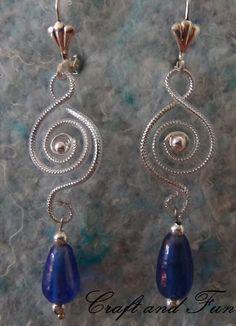 Riciclo Creativo cavo auricolare per orecchini fai da te