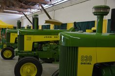 John Deere two cylinder models 830, 730 diesel standard and 630 row crop narrow front end