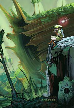 Lost Woods Zelda Fan Art by KRMayer.deviantart.com on @DeviantArt