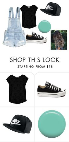 """""""sporty"""" by alexisa13 on Polyvore featuring H&M, Bobeau, Converse, NIKE and Jin Soon"""