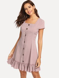 Stylish Dresses, Simple Dresses, Elegant Dresses, Cute Dresses, Casual Dresses, Short Dresses, Casual Outfits, Baby Dresses, Mode Outfits