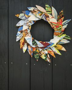 Upcycled Embroidery Wreath