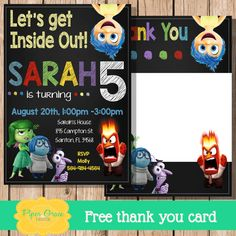 Free Inside Out Printable Party Decoration Pack InsideOutEvent - Birthday invitations inside out