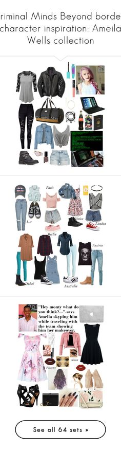 """Criminal Minds Beyond borders character inspiration: Ameila Wells collection"" by thatnerdgirlruns4themadmaninabox ❤ liked on Polyvore featuring art, plus size clothing, kitchen and bathroom"