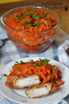 Pin by Dori on Polnische rezepte in 2020 Fish Dishes, Seafood Dishes, Seafood Recipes, Cooking Recipes, Snacks Für Party, Polish Recipes, Polish Food, Baked Salmon, Healthy Dishes