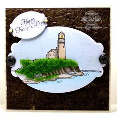Art Impressions Stamps: Lighthouse - Background (Sku#T1475)  for Father's Day.