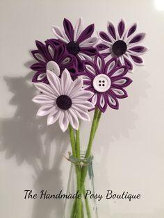 Handmade Kanzashi Flower Vase Arrangement by HandmadePosyBoutique