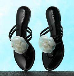 Chanel flip-flops.