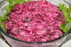 Салат из свеклы с яблоками и орехами Маруся, salaty iz ovoshhej i gribov salaty