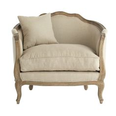 Linen European Furniture - Natural Linen Chair