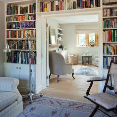Bookshelf around room divide