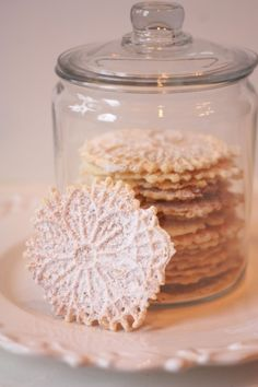 Pizzelle cookies - crispy sugar cookie made in a waffle-type iron