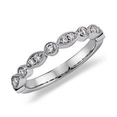 Heirloom Diamond Wedding Ring in 14k White Gold (1/5 ct. tw.)