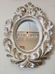 Mi mercadito marco oval chico barroco rococ marco for Espejos pequenos vintage