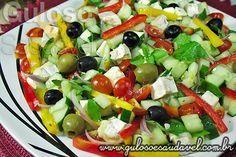 Salada Grega » Receitas Saudáveis, Saladas » Guloso e Saudável Mais