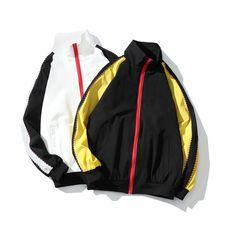 High Street Stand Collar Coat Men 2018 Spring Contrast Hip Hop Streetwear  Striped Jackets Men Chaquetas Hombre – J8613 – vaguestar. VAGUESTAR · VS  Jacket 1ce72e3f4
