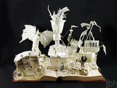 Harry Potter and the Goblet of Fire book sculpture - jamie b. hannigan