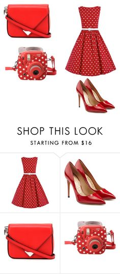 """""""Red"""" by dumy-stela ❤ liked on Polyvore featuring Salvatore Ferragamo, Alexander Wang and Fujifilm"""