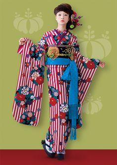 Kimono Japan, Yukata Kimono, Kimono Outfit, Kimono Fashion, Fashion Art, Geisha, Japanese Fabric, Japanese Kimono, Moda China