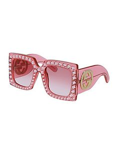 5138a67a6381 Gucci - 57MM Crystal-Trim Oversized Square Sunglasses