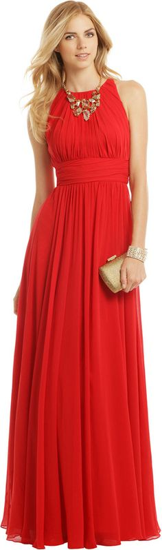 Badgley Mischka Ruby Red Gala Gown