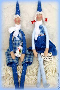 Куклы Тильды ручной работы. Ярмарка Мастеров - ручная работа Помощники Деда Мороза и Санта Клауса. Handmade.