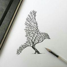 Imagen de drawing, art, and bird