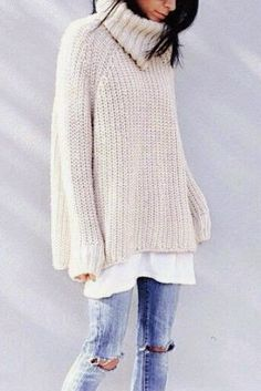 Oversized sweaters for fall.