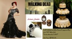 The Walking Dead inspired wedding board from Artisan Jewelers https://www.facebook.com/Artisan.Jewelers