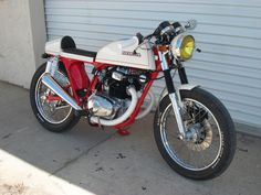 #Honda #CB200 #CafeRacer #Custom #Vintage #Motorcycle #DimeCityCycles Customers' Build - www.dimecitycycles.com