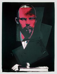 Andy Warhol: Lenin, 1987. Collage