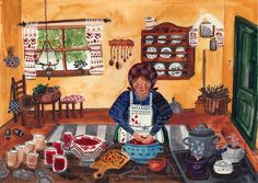 Folklore Inspired Illustrations by Eveline Bervoets Flow Magazine, Kitchen Art, Kitchen 2016, Visual Diary, Make Your Mark, Food Illustrations, Folklore, 9 And 10, Cool Pictures