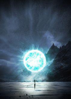 Magical powers magic light lightning glow